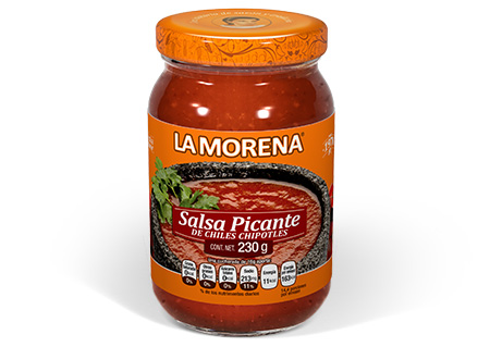 SALSA PICANTE DE CHILES CHIPOTLES EN FRASCO